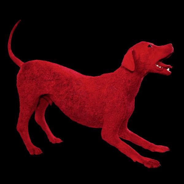 Gefäßgestalt eines Hundes